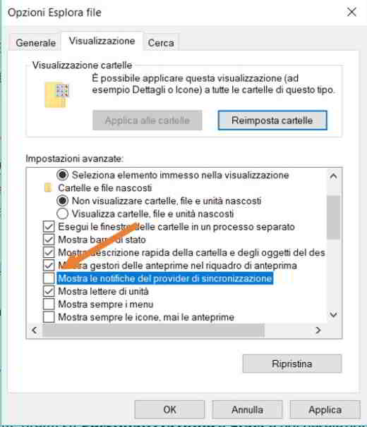 come disabilitare pubblicità windows 10