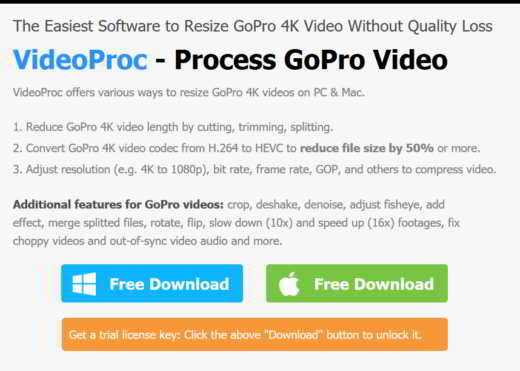VideoProc con licenza