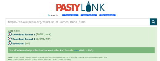 video rai con pastylink