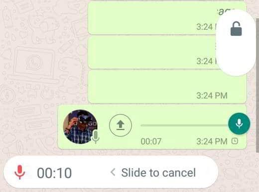 Come registrare audio Whatsapp senza tenere premuto