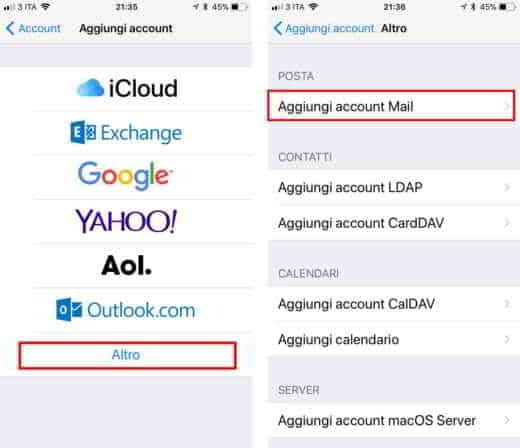 virgilio mail login mobile