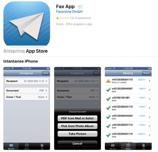 ricevere fax su pc gratis