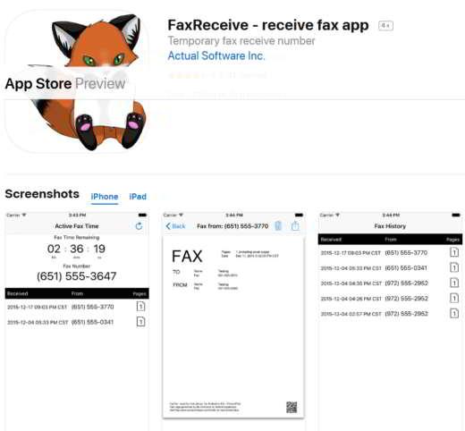 ricezione fax