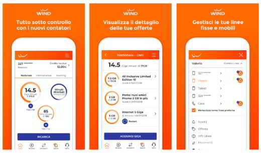 app ufficiale myWind
