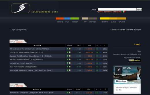 corsaro nero download gratis