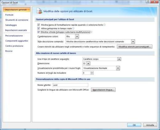 come inserire scheda sviluppo in Excel