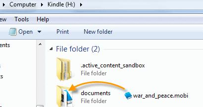 Trasferire libri su Kindle da PC