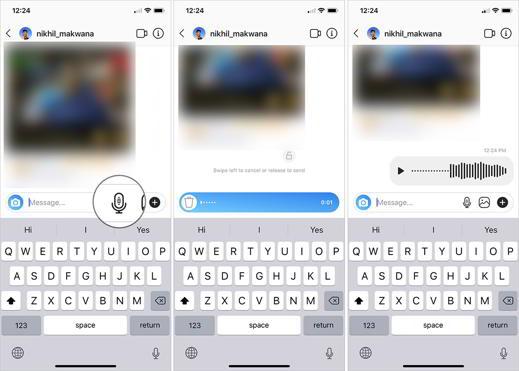 come inviare messaggi vocali Instagram
