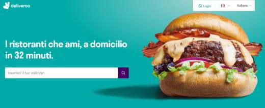 deliveroo - Migliori app per ordinare cibo a domicilio
