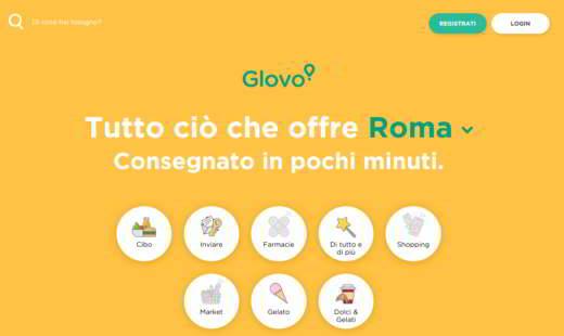 glovo - Migliori app per ordinare cibo a domicilio