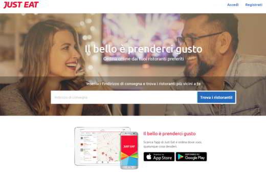just eat - Migliori app per ordinare cibo a domicilio