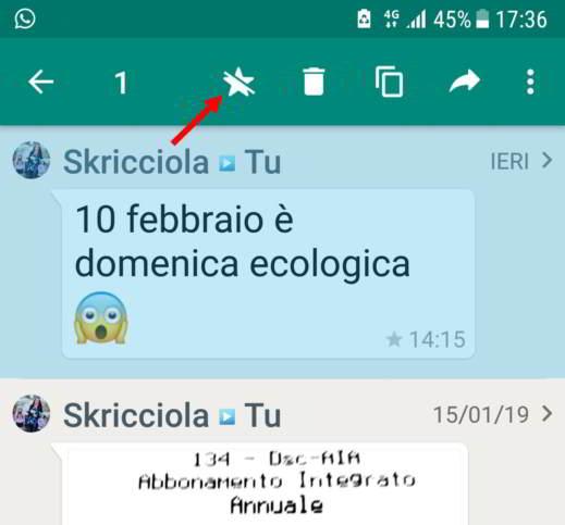 come salvare i messaggi di whatsapp