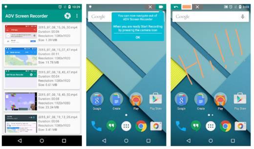 ADV registratore schermo - Migliori screen recorder Android