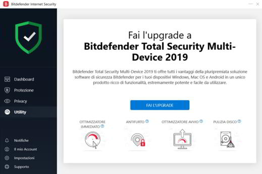 bitdefender total security 2019 - Bitdefender Internet Security 2020: guida e recensione