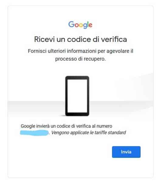 recupera password gmail