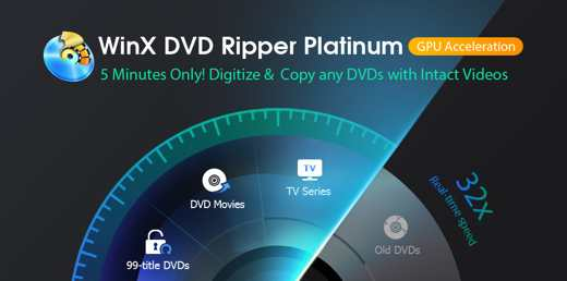 1000 WinX DRP - WinX DVD Ripper Platinum il miglior decodificatore DVD