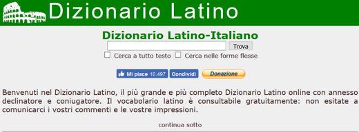 traduttore italiano latino antico