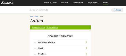 vocabolario latino online