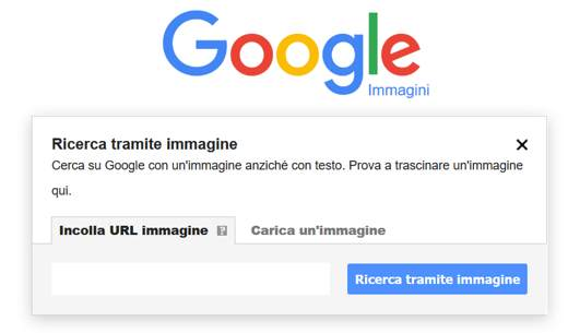 ricerca per immagini google