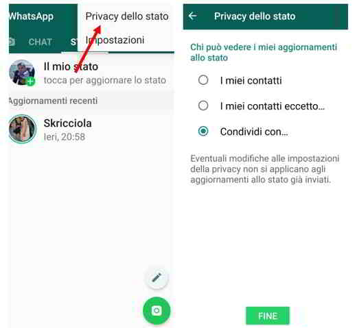 stati su whatsapp