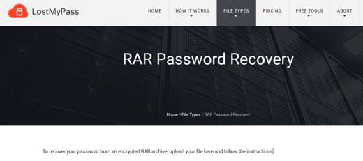 trovare password file rar