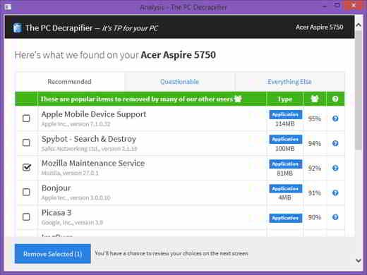 5 pc decrapifier - Programmi per eliminare file inutili