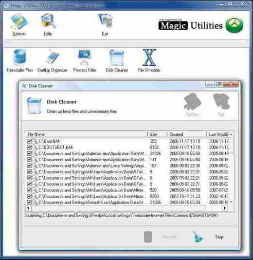 6 magic utilities - Programmi per eliminare file inutili