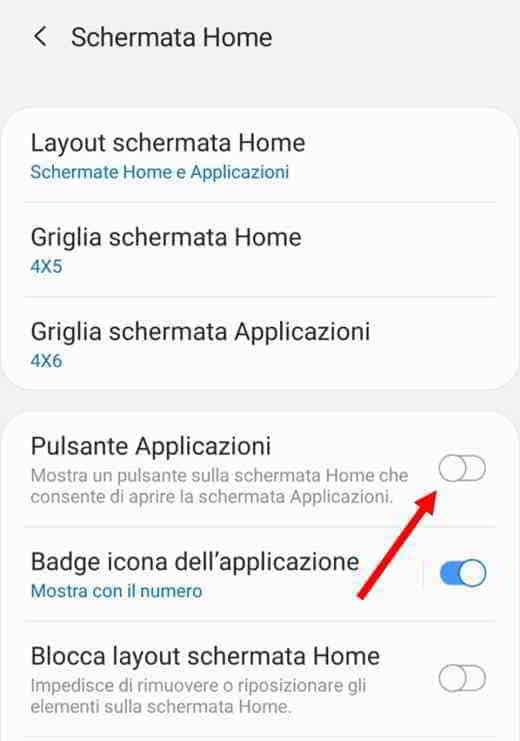 icona applicazioni scomparsa