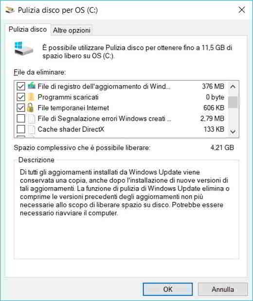 pulizia file temporanei windows 10 - Programmi per eliminare file inutili