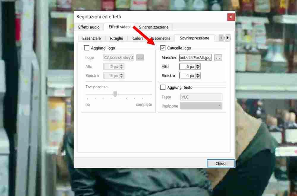 rimuovere watermark da video