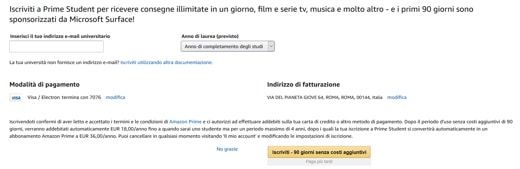 Come funziona Amazon Prime Student