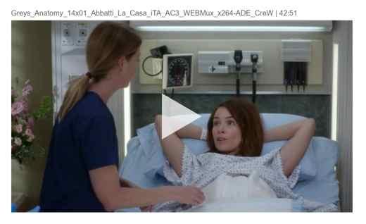 grey's anatomy streaming film per tutti