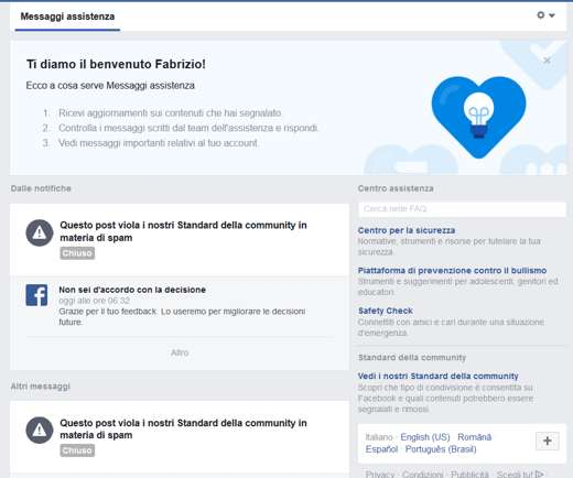 blocchi facebook