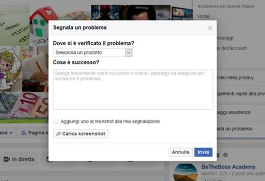 facebook cancella i post