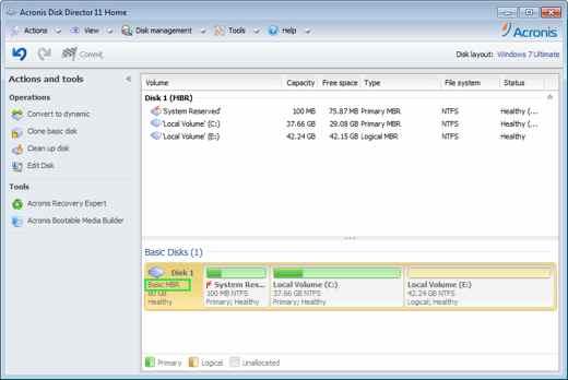 Acronis Disk Director - Migliori programmi per clonare il disco fisso