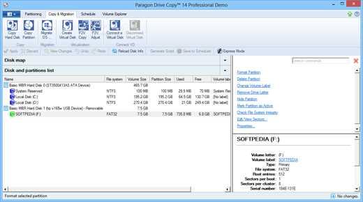 Paragon Drive Copy Professional - Migliori programmi per clonare il disco fisso