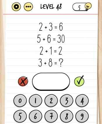 brain test 48 - Le soluzioni di tutti i livelli di Brain Test