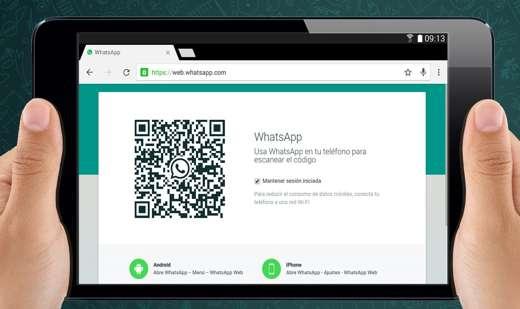 whatsapp web tablet