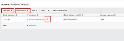 Come aggiungere numero partita IVA nell'account inserzionista Facebook