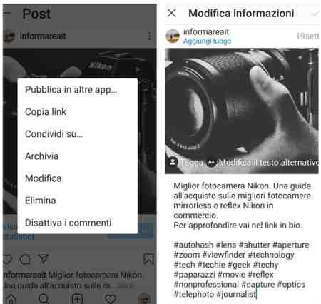 Come eliminare un tag su Instagram