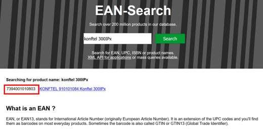 come trovare codice EAN di un prodotto