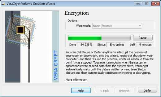 crittografare file