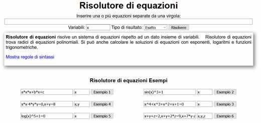 risolutore equazioni secondo grado