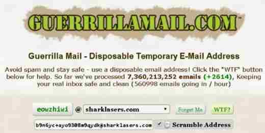 mail provvisoria
