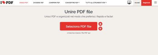 unisci pdf