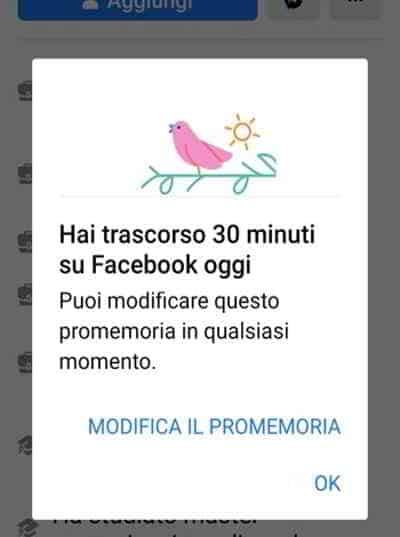 limite orario superato facebook