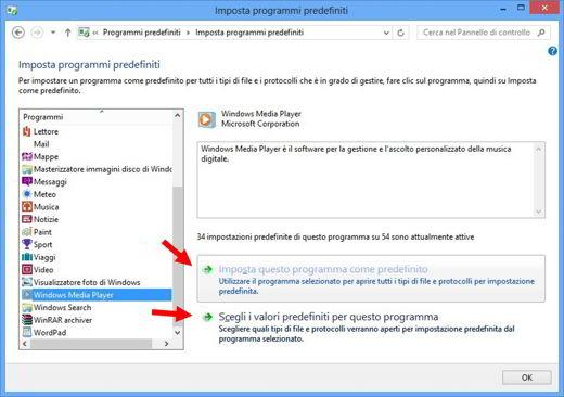 programma predefinito windows 7