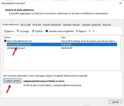 Impossibile accedere al file di dati di Outlook