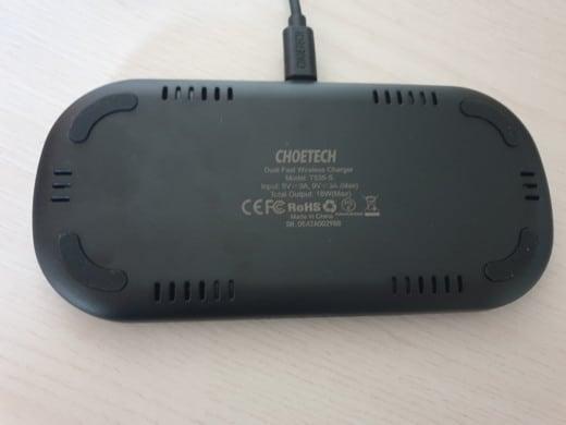 Caricatore wireless doppio rapido Choetech
