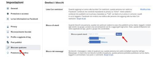 come sbloccare persone su facebook